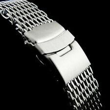 18/20/22/24mm Steel Dive Shark Mesh Milanese Watch Strap Band U8S8