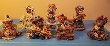 Lot Of 7 Boyds Bears And Friends Resin Figurines