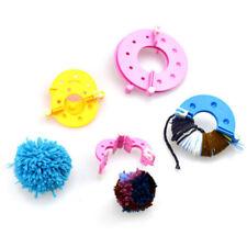Uk Hot Pompom Maker Fluff Ball Weaver Needle Knitting Crafts bobble DIY Tool Kit