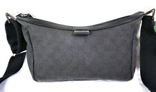 Vintage GUCCI Black Canvas GG Web Sling Shoulder Bag Small Italy