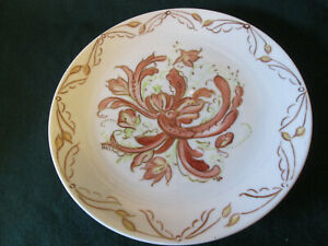 Rosemaled China Plate Hand Painted Norwegian Painting Rosemaling