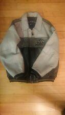 Avirex  Vintage Leather  Bomber Jacket Grey / Black  Mens 2XL