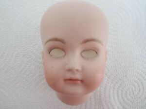 """XI GIRL 8"""" PAINTED PORCELAIN BISQUE HEAD REPRODUCTION Our Code H"""