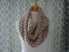 super chunky infinity scarf / snood /  infinity scarf hand crafted crochet fawn