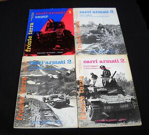 CARRI ARMATI (italiani 2° guerra m.) FRONTE TERRA - Edizioni Bizzarri 1972-1974