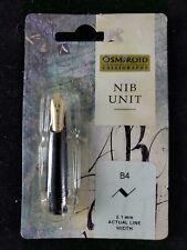 Osmiroid Calligraphy Easy Change NIB Unit B4 22 Carat Gold Plated 1.4 mm