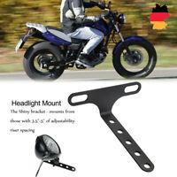 Motorrad Scheinwerfer Halterung Verstellbare Halter 10mm für Harley Honda