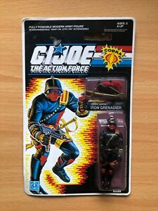 G i Joe Iron Grenadier Action Figure on sealed card