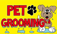 5' x 3' Pet Grooming Flag Dog Cat Puppy Groom Business Banner