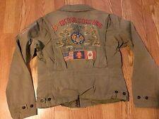 Polo Ralph Lauren M41 USA American flag dragon pea coat jacket military 18th M