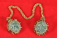 Vintage Jade Oro Vestido Clip Set C. 1930's