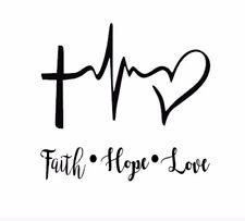 "Faith Hope Love 3"" Vinyl Decal Sticker Yeti size Any Color"