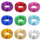 4 - 5mt FILO ALLUMINIO colorato 1mm - 1,5mm - 2mm wire bigiotteria e decorazioni