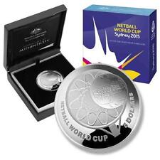2015 Netball World Cup Sydney 1oz $5 Silver Proof Domed Coin