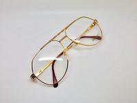 Vintage Hilton Class 702 C1 24kt Gold Pilot Eyeglasses Optical Frame Lunettes