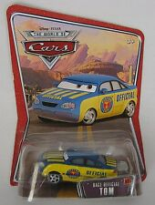 Disney Pixar Cars WORLD OF CARS SERIES- RACE OFFICIAL TOM #57 without New Shield
