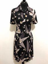 a6938ad16d20 CULT VINTAGE  70 Abito Vestito Donna Jersey Flower Woman Dress Sz.XS - 38