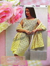 Vintage 60s Crochet Pattern Lady's  Dress & Stole /Shawl JUST £2.99 Free P&P!