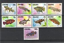 ZAIRE (1978) - COB 918/926**MNH - POISSONS FISCHES