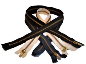 Ykk Zipper Metal Long Zipper Black 83cm , Blue 83cm, Creme 69cm