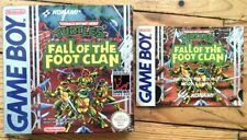 BOÎTE VIDE + NOTICE TURTLES FALL OF THE FOOT CLAN GAMEBOY FAT PAL FAH EMPTY BOX