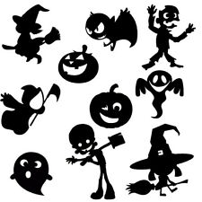 Die Cut Outs Silhouette Halloween Cute shapes 10 toppers