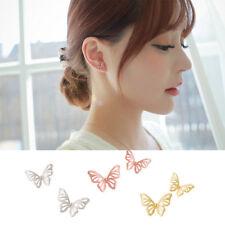 925 Sterling Silver Gold Geometric Butterfly Stud Earrings -SHIPS FAST!