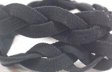 NEW! Black Braided Hair Band Head Under Sweaty Headband Armour Non Slip