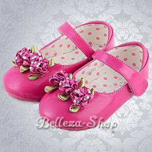 Rosette  Shoes Wedding Pageant Party Size US 6.5-9 Euro 22.5-25 GS006