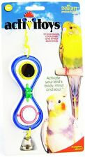 JW PET INSIGHT HOURGLASS MIRROR BIRD TOY PARAKEET COCKATIEL.FREE SHIP IN THE USA