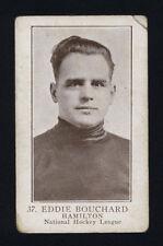 1923-24 V145-1 WILLIAM PATERSON ~ #37 ~ EDDIE BOUCHARD ~ ROOKIE CARD