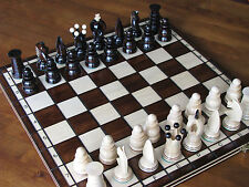 Brand New♞  Hand Crafted Royal  Wooden Chess Set 43cm x 43cm♚
