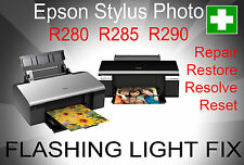 Epson Stylus Photo R280 R285 R290 - Repair Reset Disc - Flashing light fix