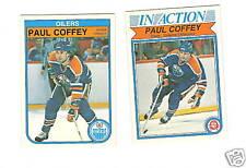 1982-83 OPC HOCKEY CARDS #101 #102 OILERS PAUL COFFEY