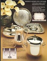 VINTAGE AD SHEET #1983 - SHEFFIELD SILVERPLATED GIFTWARE - TRAY - CASSEROLE