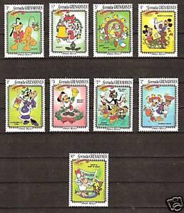 GRENADA # 560-568 MNH DISNEY Christmas Mickey & Friends