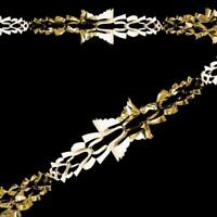 Pack x6 New 2.7m Long Gold/Cream Foil Garlands 20cm Christmas Decorations