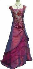 CHERLONE SATIN LONG Lace Prom Bridesmaid Dress Size UK 12/14 NH191 MM 08