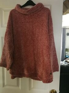 Joules Chenille Jumper Size 18 Pink