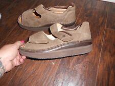 Finn Comfort Men's Nubuck Prevent Flat Leather Sandal Shoes Brown Size euro 38