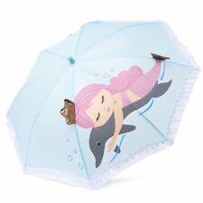 Laura Ashley Mermaid Umbrella Girls Kids Blue