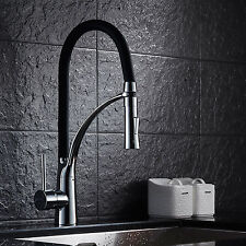 Pull Out Modern Kitchen Bar Sink Chrome Single Lever Black Spring Mixer Tap