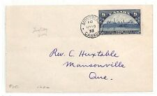 AT177 1933 Canada *MONTREAL* Cover Masonville Quebec FDC PTS
