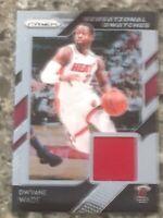 Dwyane Wade Miami Heat Game Worn Jersey Panini Basketball Card
