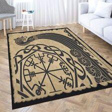Area Rug The Vikings Ancient Scandinavian Pattern Norse Runes Modern Home Carpet