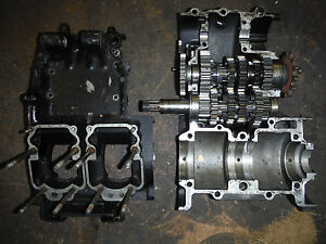 Complete RG250 Crankcases with gearbox (From Early Model I Suspect)