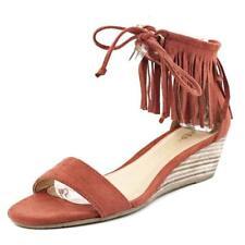 Zapatos de tacón de mujer plataformas de tacón medio (2,5-7,5 cm) de color principal rojo