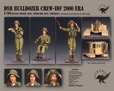 1/35 Scale resin model kit D9R Bulldozer Crew - IDF 2000 Era (3 Figures)