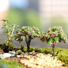 Plastic Mini Trees Miniatures Garden Microlandscape Setting Figurines Home Decor