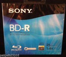 Sony Full HD 1080 Recordable BD-R Blu-Ray Disc   25GB 1-6X